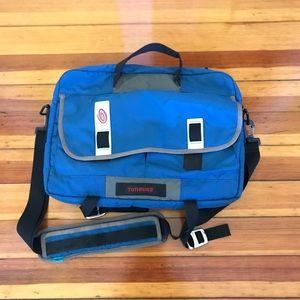 Timbuk2 blue over shoulder laptop messenger bag